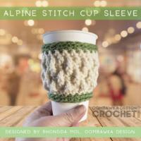 Alpine Stitch Cup Sleeve Pattern ODC2020