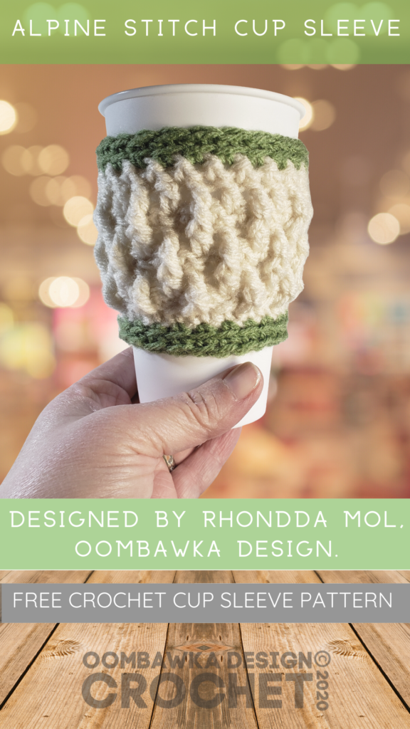 Alpine Stitch Cup Sleeve Pattern Oombawka Design