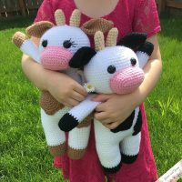Amigurumi Cow by Grace and Yarn