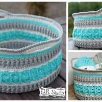 Sea Glass Basket by ELK Studio Crochet Designs