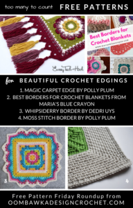 Beautiful Crochet Edging Patterns. Free Edgings, Trims and Blanket Borders. Free Pattern Friday Roundup.