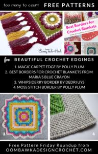 Beautiful Crochet Edging Patterns. Free Edgings, Trims and Blanket Borders. Free Pattern Friday Roundup.