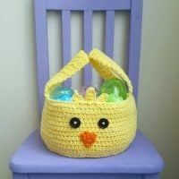 Chickadee Easter Basket Crochet Pattern by The Lavender Chair