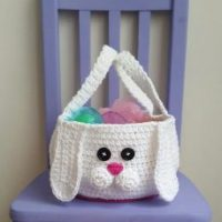 Chubby Bunny Easter Basket Crochet Pattern by The Lavender Chair