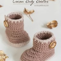 Cocoa Baby Ankle Booties by Olivia Kent
