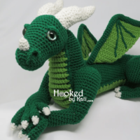 Vincent the Dragon Crochet Pattern from Hooked by Kati