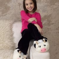 Cow Slippers by Red Heart Design Team