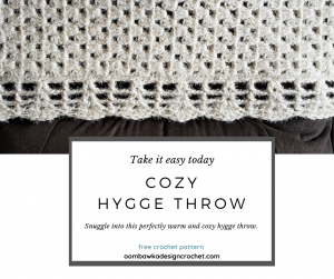 Cozy Hygge Throw Pattern from Oombawka Design Crochet CAL 2019