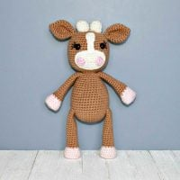 Crochet Cow Pattern by The Friendly Red Fox