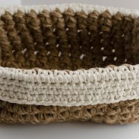 Crochet Jute Basket Pattern