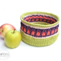Fall Apple Basket by Lilla Bjorn Crochet at Knotions