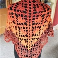 Featured at Wednesday Link Party 336 Triangular Scarf with Hearts