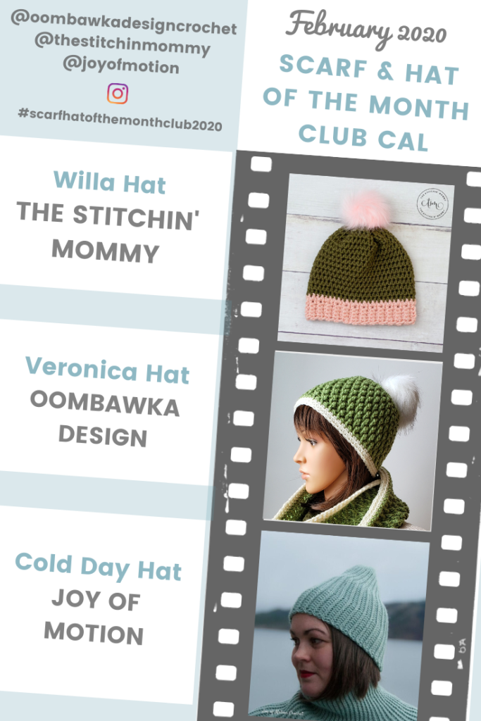 February Scarf and hat of the Month Club 2020 - Hat Patterns