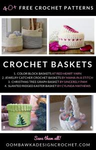 Free Crochet Basket Patterns Roundup at Oombawka Design Crochet