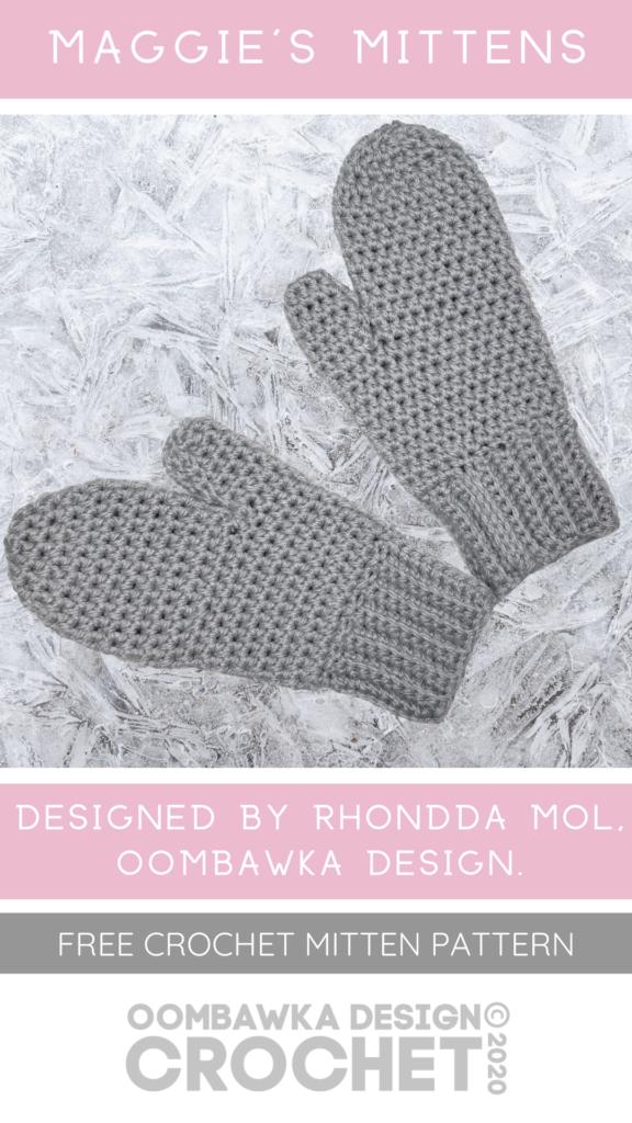Free Crochet Mitten Pattern from Oombawka Design 2020