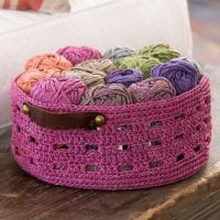 Bricks Basket at Red Heart Yarn