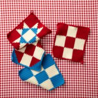 4th Of July Potholders by Lion Brand Yarn