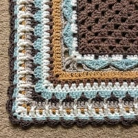 Meet me on the Corner Blanket Edging Pattern by Christine at CatWhiskers Crochet