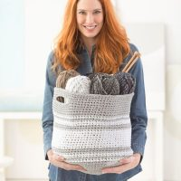 Midland Basket from Lion Brand Yarns