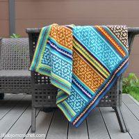 Nya Mosaic Blanket by Tatsiana Kupryianchyk