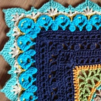 Persian Dream Border Pattern by Diana Krenz featured at Free Pattern Friday