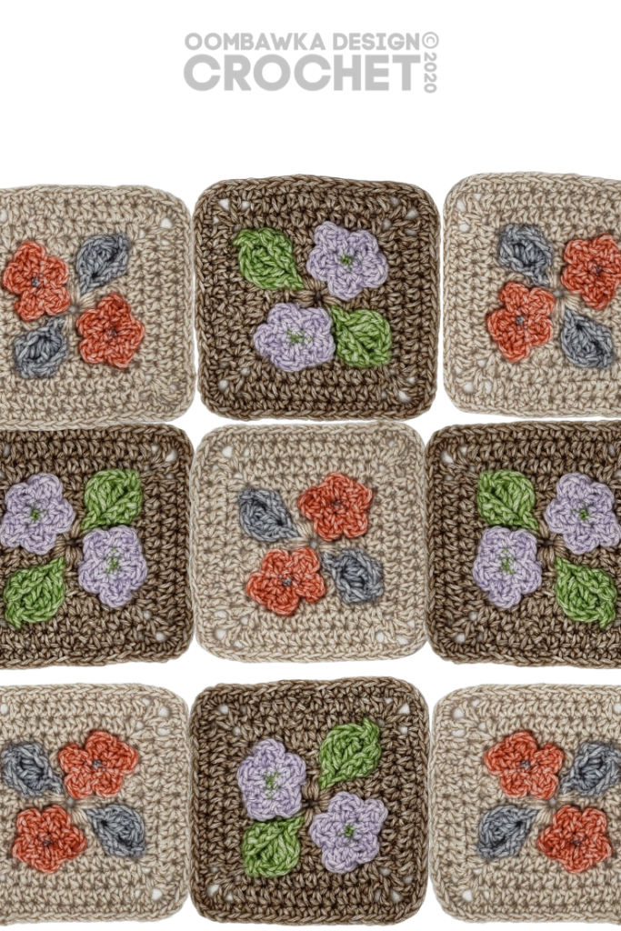 Pretty Posies Afghan Square Pattern PIN