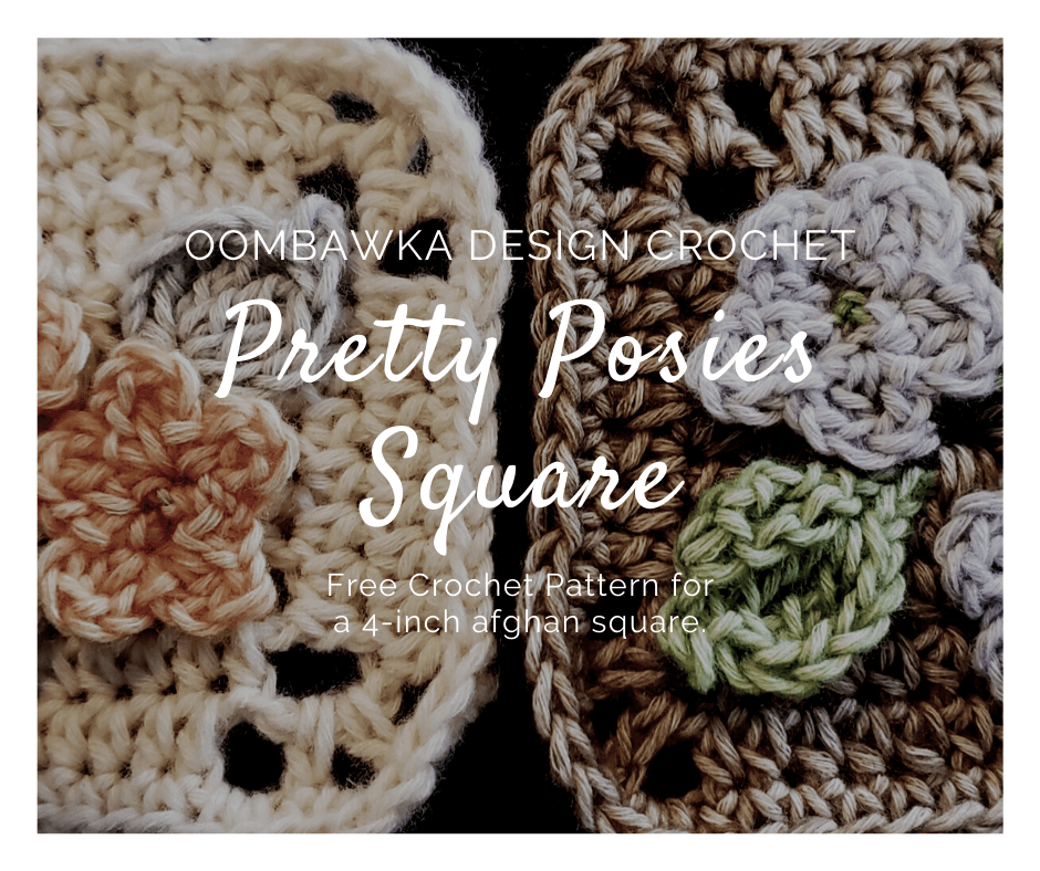 Pretty posies afghan square pattern from Oombawka Design Crochet