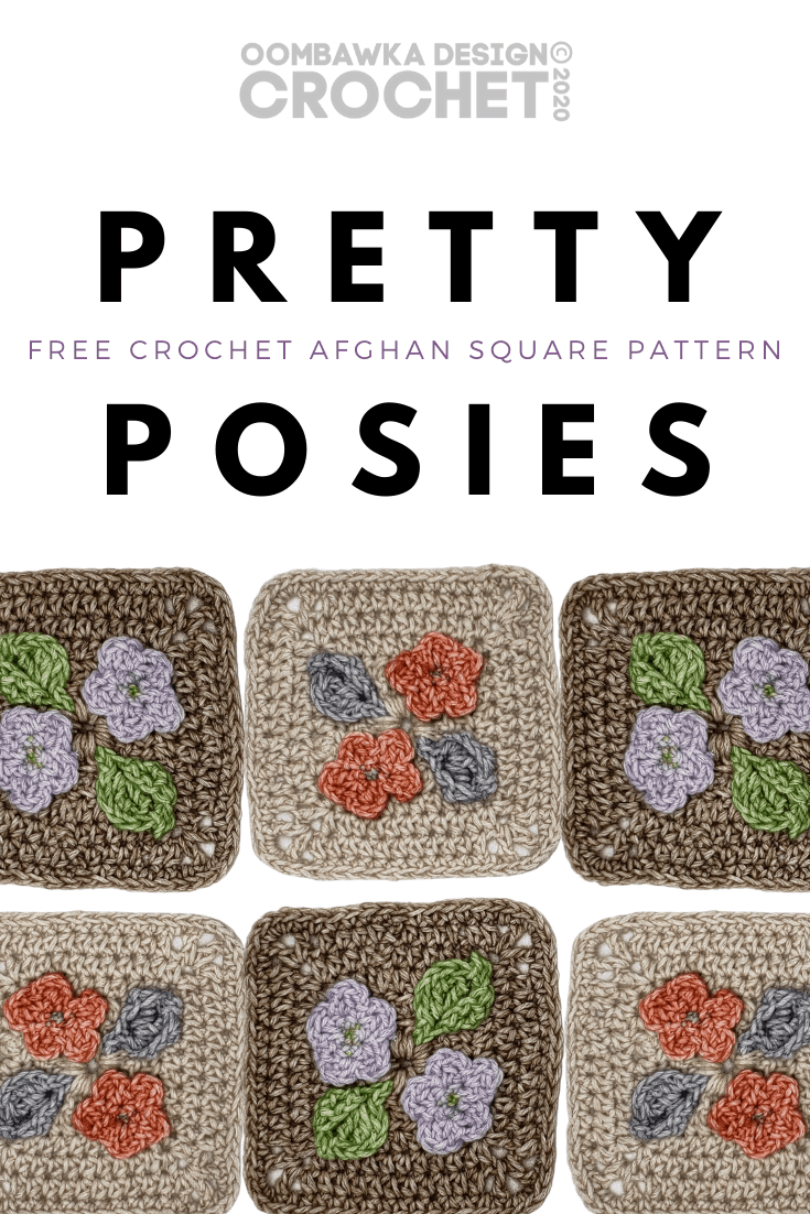 Pretty Posies Afghan Square Pattern