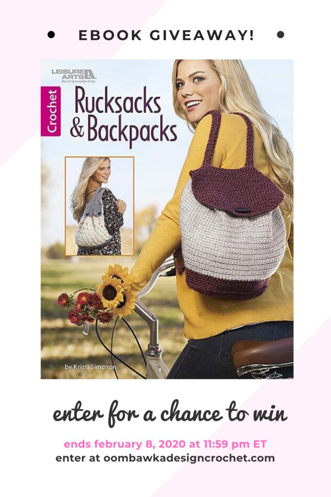 Rucksacks and Backpacks eBook Giveaway ends Feb 8 2020 1159 pm ET