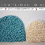 Simple Double Crochet Bulky Hat