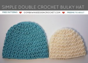 Simple Double Crochet Bulky Hat Pattern