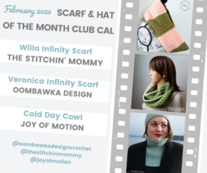 February Scarf and Hat of the Month Club 2020 - Scarves