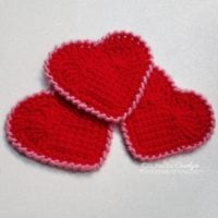 Sweet-Heart-Tunisian-Crochet-Coasters-with-rsc-on-thepurpleponcho.com-Crochet-by-Carolyn Featured at Wednesday Link Party 335