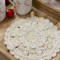 Winter Opulence Round Hot Pad Pattern from Kirsten Holloway