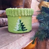 Christmas Tree Graph Basket by Sincerely Pam