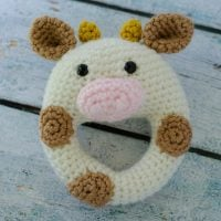 Cow Rattle by Crochet 365 Knit Too