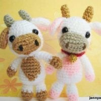 Amigurumi Lolly baby cow by jennyandteddy