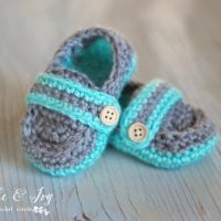 Monk Strap Baby Booties by Whistle and Ivy Free Pattern