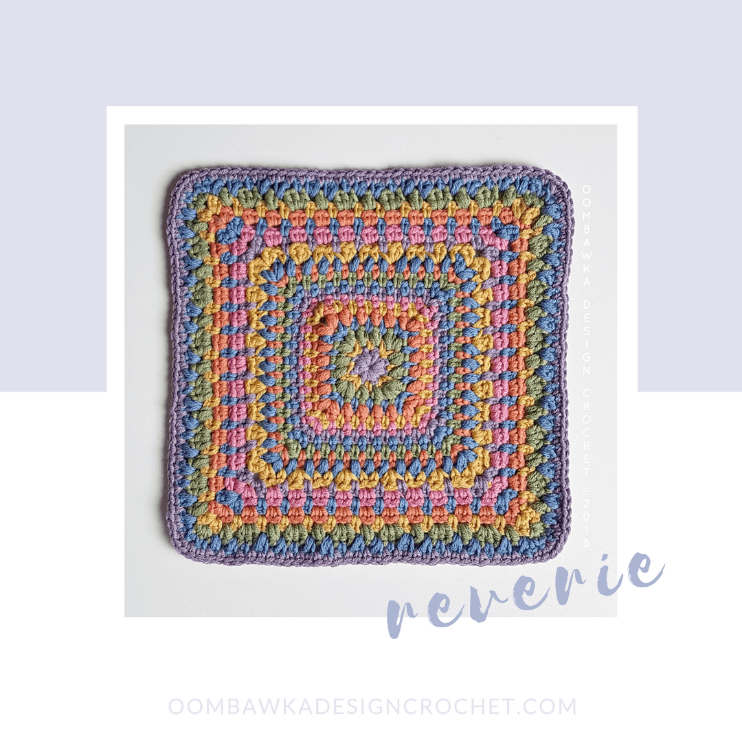 reverie afghan square by oombawkadesigncrochet