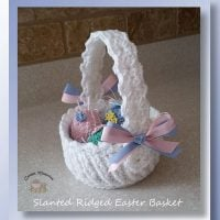 Slanted Ridged Easter Basket by Cylinda D. Mathews