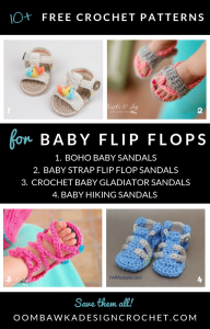 10 free Patterns for Baby Flip Flop sandals