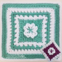 Blossom Path Afghan Square - Carolyn Calderon Featured at Free Pattern Friday with ODC