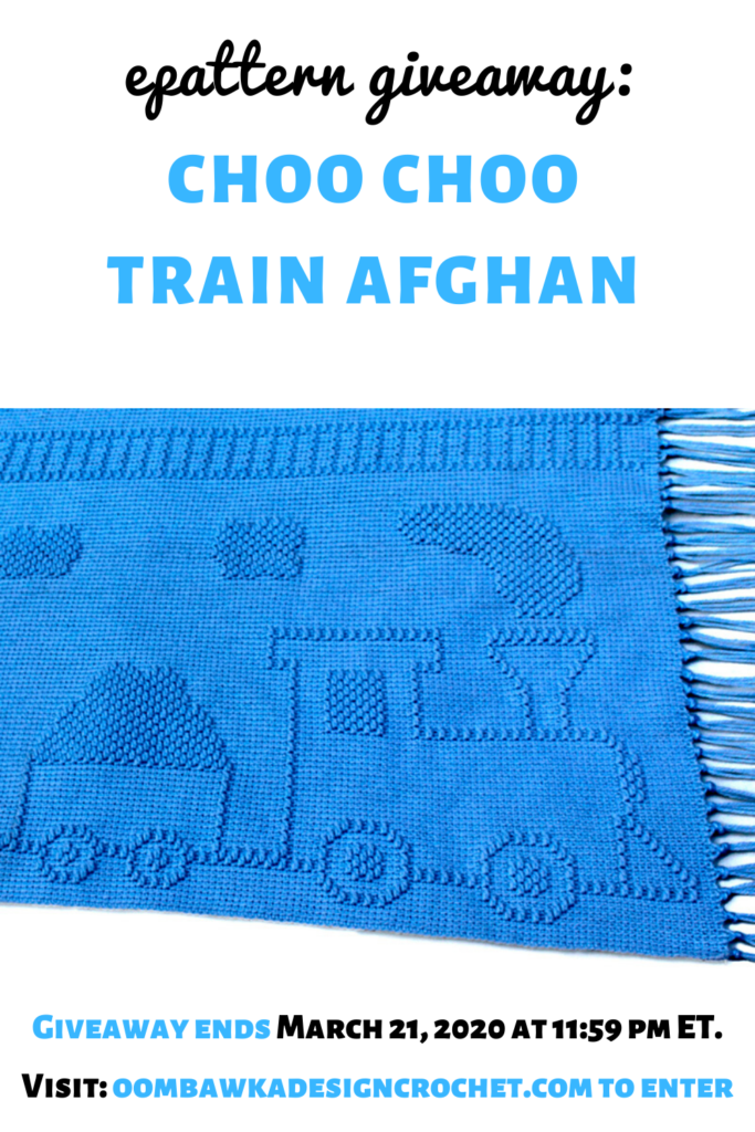 Choo Choo Train Afghan Pattern ShadyLaneOriginal Crochet Designs Review and Giveaway