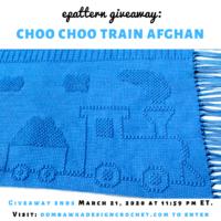 Choo Choo Train Afghan Pattern ShadyLaneOriginal Crochet Designs Review and Giveaway insta