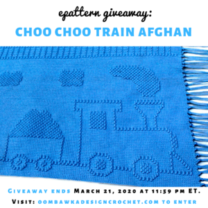 Choo Choo Train Afghan Pattern ShadyLaneOriginal Crochet Designs Review and Giveaway insta