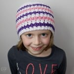 Simply Serene Hat - Modelled - Free Pattern