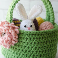 Easter Basket Crochet Pattern Featured at Free Pattern Friday with Oombawka Design Crochet