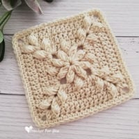 Emerald_Asscher_Crochet_Afghan_Square_Featured at Free Pattern Friday