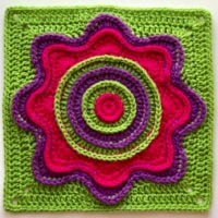 Flower Power Square from Carolyn Christmas