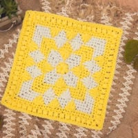 Flower and Leaf Square Briana K Designs Featured at FPF with ODC